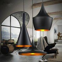 Art Deco lamp shade - Indoor Light Shade Pendant Lamp E27 Bulbs Beat Light Ceiling Lamp Tom Dixon Copper Design Black White Home Decoration ABC Size Set