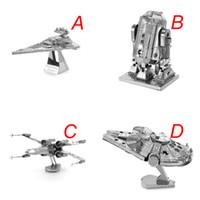 Wholesale Star Wars Episode Series Titanium Star Destroyer D Metal DIY Millennium Falcon Robot Imperial Star Destroyer Fighter Assembled Toys Model