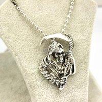 scythe - Silver Tone Sons of Anarchy Death Scythe Pendant Necklace