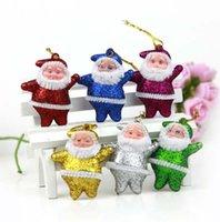 Wholesale 600pcs Christmas supplies decorative gift ornaments gold Santa Claus widgets Party Decorations