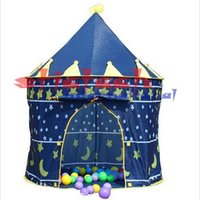 Wholesale 50 shipping fee pieces new style HOT Castle Kid Child Baby Play Tent Fun Playhouse Outdoor Indoor Tent blue and Pink blue