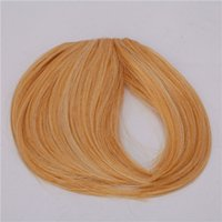 Wholesale Fashionable Straight Neat Bang Hair Extension with Clip Light Brown