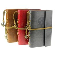 Wholesale Fantastic Vintage Style Leather Cover Notebook Journal Diary Blank String Nautical Feida