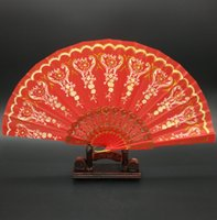 beautiful hand fans - Beautiful Spanish Wedding Bridal Dancing Fans Folding Hand Party Decoration Shining Summer Fan