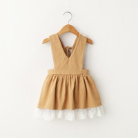 bb brown - Hug Me Baby Girls Lace Tutu Dresses Spring Summer Childrens Sleeveless for Kids Clothing New Party Strap Dress BB