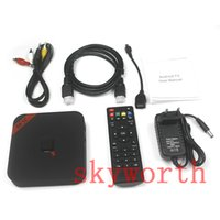 Wholesale Original MXQ TV BOX Amlogic S805 Quad Core Android Kitkat XBMC Media Player DHMI Loaded Programmed Plus and Play Google Store Sports