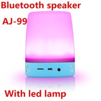 audio level control - AJ99 Unique Home Decoration Led Lamp Speaker Bluetooth TF Card Dual Speakers With Level Brightness Touch Control Design and Retail Package