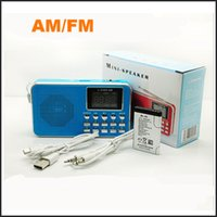 usb flashlight - Portable L B AM FM Radio LED flashlight support TF micro SD card USB flash drive AUX