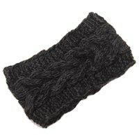 Wholesale Adult Lady Crochet Winter Autumn Knit Headbands Warm Hoop Wide Plait Headbands ear warmer Wool Stretch Hair Bands D706J