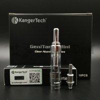 1.3ml authentic glass - Authentic Kanger Genitank Mini Atomizer Single Pack Kangertech Dual Coil Pyrex Glass Clearomizer e cig e cigarette