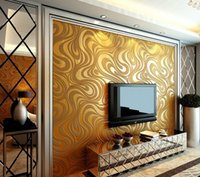 Wholesale 0 m m wallpaper rolls Papel de parede Sprinkle gold murals damask wall paper roll modern stereo D mural wall paper