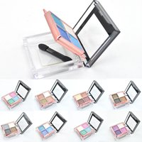 basic brushes for makeup - New Colors Eye Shadow Palette Makeup Set Basics Glitter Eyeshadow Palettes with Brush and Mirror for Women HJ1026