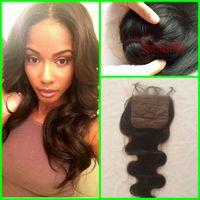 Cheap Best Brazilian Silk Base Closure 7A Human Hair Brazilian Body Wave Silk Base Closure Bleached Knots,Cheap Silk Base Closure