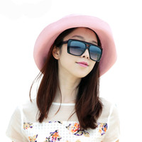 Wholesale 2016 New Sun Hat Women Ladies Brim Hat Floppy Hot Summer UV Protection Beach Hat Straw Hat Dome Cap Outdoor Travel Casual Foldable Headwear