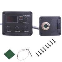 Wholesale 50pc Ukulele Uke Bands LCD EQ Equalizer Chromatic Tuner Pickup Piezo Transducer Balance Output Z00481