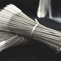 stainless steel scourer - EMS Hot high quality baby mug straw brush stainless steel straw brush stainless steel brush bottle brush straw