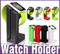 Wholesale 2016 hot sell Charging Stand Bracket Holder for Apple Watch E7 Desktop Charger Station with Retail Box fitbit iwatch for iphone cable