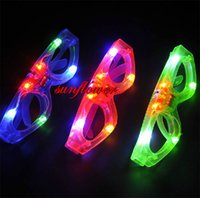 Wholesale Blinking LED Square Shaped Eye glasses Party Light Up Flashing Party Club Supplies