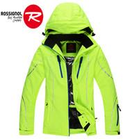 Wholesale ROSSIGNOL skiing jackets for female waterproof snow jacket women winter warm ski coats veste ski femme good quality ski clothing
