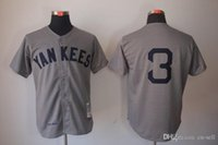 baseball nyy - 30 Teams New Throwback Baseball Jerseys NYY Ruth Jersey Gray By M N in stock Size Stitched Mix Order