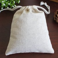 Wholesale Muslin Linen Drawstring Bags quot x6 quot x17cm Jewelry Candy Gift Pouches Fabric Cotton Storage Bag Wedding Favor