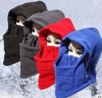 acrylic hood - Multi Function Outdoor Hat For Man Women Fleece Face Guard Hood Winter Keep Warmer Cover Face Like CS Play