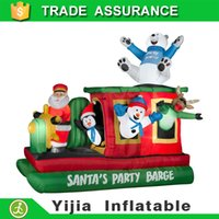 barge ships - DHL free ship m tall christmas Santa s Party Barge for Inflatable Decoration
