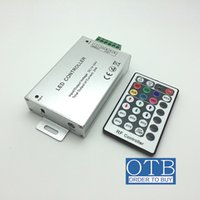 Wholesale LED RGB controller DC12V V key RF wireless remote control brightness dimmer and color changeable adjustable output A A DHL Free