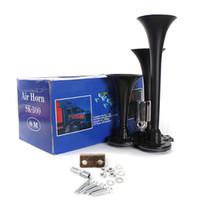 best motorcycle horn - Best Price Black Metal V DB Motorcycle Compact Air Horn Kit Triple Trumpet Ultra Loud