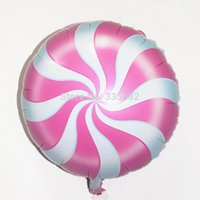 Wholesale 50pcs Birthday party inch aluminum foil balloon lollipop helium balloon