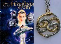 antique stories - 12pcs Never ending Story Auryn Pendant necklace jewelry silver antique jewelry
