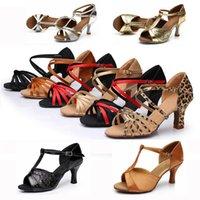 Wholesale New Cheap Girls Women s Ballroom Tango Salsa Latin Dance Shoes cm Heel Styles