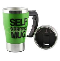auto stirring mug - 200pcs CCA2978 High Quality Solid Color ML Stainless Lazy Self Stirring Mug Auto Mixing Tea Coffee Cup Office Home Use Christmas Gifts