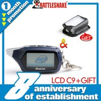 Wholesale car Factory wholesales in stock LCD remote for Starline C9 with free leather case