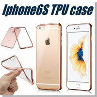 cases - Iphone Case Colorful TPU Backcover Ultra Thin Case Galaxy S7 TPU Case Electroplating Technology Soft Gel Silicone Case Opp Package