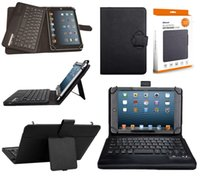 aigo case - Universal Wireless Bluetooth Keyboard inch PU Leather Case For Table Case With Retail Box