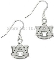 auburn jewelry - 50pairs a zinc alloy antique silver plated Auburn Tigers sports jewelry earrings