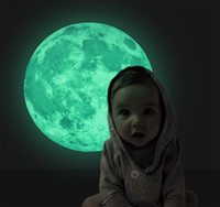 Wholesale 2015 NEW Glowing Wall Stickers Funlife Exclusive Moonlight Moon Earth Wallpapers Luminous Glow in the Dark for Children Room Home Decoration