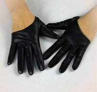 leather gloves - Rockstar Gloves Leather Gloves For Women Genuine Leather Short Gloves Ladies Leather Gloves