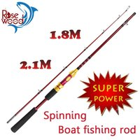 big boat games - 2015 carbon Fiber Spinning Fishing Rod m m Tow Choice Boat Sea Rod Red Body For Big Game Pole Fishing Tackle