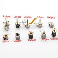 Wholesale NEW totally each of kinds Wire Phase dc micro stepper motor Mini stepper motor Assorted with Plastic box A2