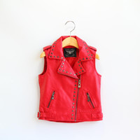 big leather vests - Fashion Big Kids Girls Pu Leather Waistcoats Baby Girl Fall Rivets Zipper Vests Girl NEW Autumn Outwear Babies clothes BY0000
