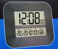 Wholesale Big Digital Number LCD Calendar Wall Alarm Clock with Snooze Thermometer Hygrometer Temperature Humidity Read Table Desk Alarm Clock