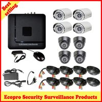 Wholesale DHL channels DIY Household DVR camera kit set CH H DVR waterproof outdoor camera dome indoor camera TB HDD