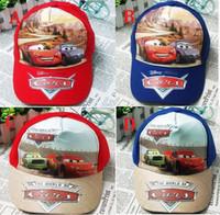 Wholesale 12pc Hot Sale Cartoon Car children s kid s sun cap baseball cap hat color for choice free size