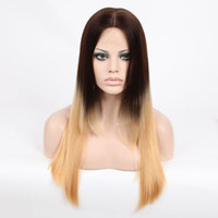silk top full lace wigs - Silk Top Brazilian Virgin Ombre Silky Straight Human Hair Wig Luxurious Brazilian Ombre Full Lace Wigs with Baby Hair Density