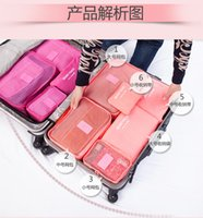 Wholesale 6pcs Set Storage Bags Home Travel Clothes Underwear Socks Packing Cube Luggage Bag Organizer Fashion New