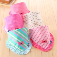 big binders - 2016 Infant baby girl bibs cute bownot triangular binders super big size double deck pure cotton burp cloths with different colors
