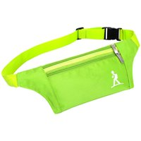 Wholesale 20pcs High Quality Oxford Pouches Double Zippers Waist Packs Cell Phones Keys Wallet Exercise Fitness Accessories hb356