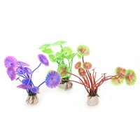 aquarium background plants - Fish Tank Grass Flower Ornament Aquatic Animals Accessories Artificial Vivid Plastic Aquarium Decorations Plants